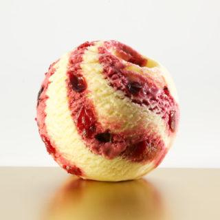 蜂雪颂香草味红莓冰淇淋